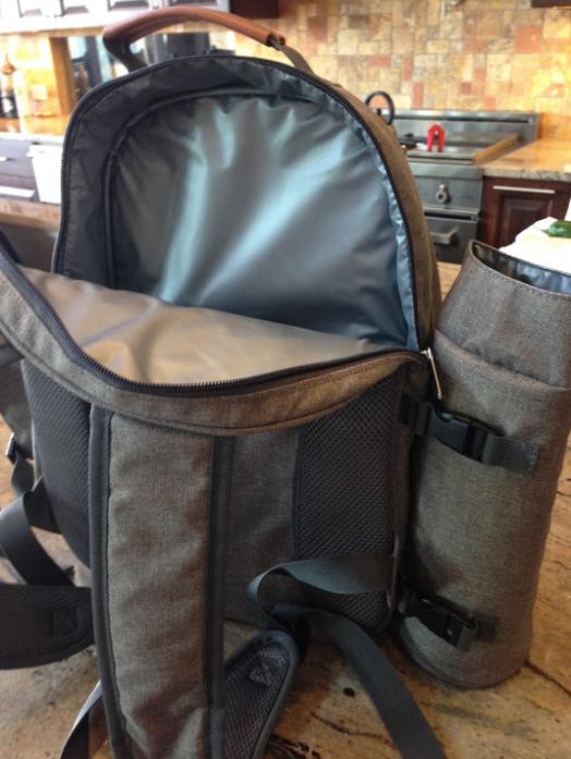 Backpack Cooler open