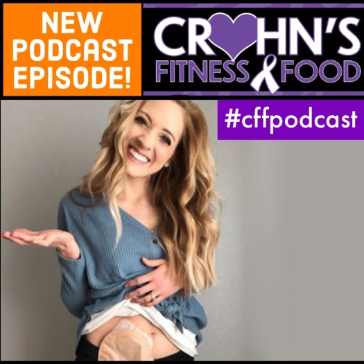 Crohn's Fitness Food podcast cover with Meghan Cary Brown