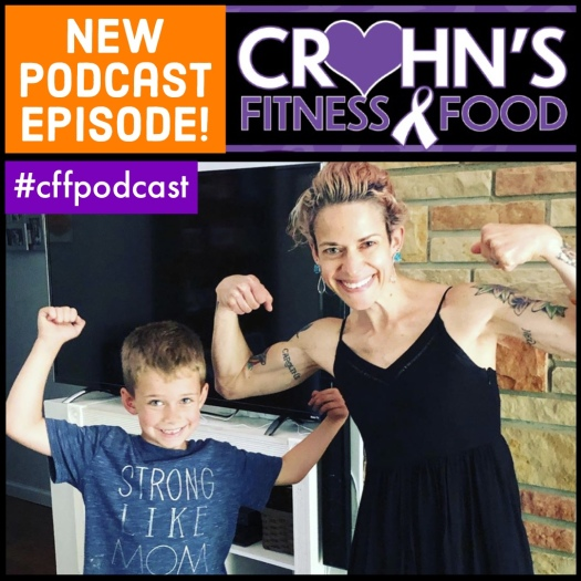 Crohn's Fitness Food podcast cover with Rachel Epplin-Rincker for part 2