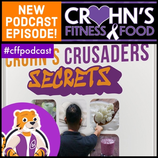 Crohn's Fitness Food podcast cover for episode with Trevor Zabar